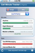 Cell Minute Tracker for iPhone