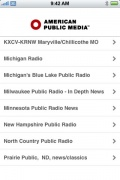 Public Radio Tuner for iPhone