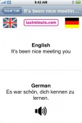 Talking German Phrasebook for iPhone