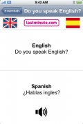 Talking Spanish Phrasebook for iPhone